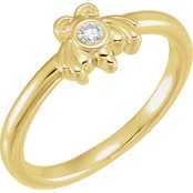 Karat Kids 14K Yellow Gold Cubic Zirconia Youth Bee Ring, size 3.5
