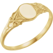Karat Kids 14K Yellow Gold Signet Ring, Size 3