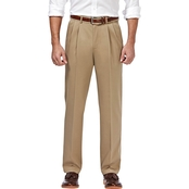 Haggar Premium No Iron Khaki Classic Fit Pleated Pants