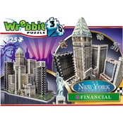 Wrebbit3D 2013 Financial District New York 3D Puzzle