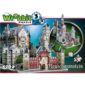 Wrebbit3D Neuschwanstein Castle 3D Puzzle, 890 Pieces