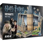 Wrebbit3D Puzzle Harry Potter Hogwarts Great Hall, 850 Pieces