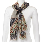 Imperial Patches Floral Print Oblong Scarf