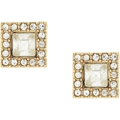 Jessica Simpson Goldtone Dancing In The Moonlight Square Button Earrings