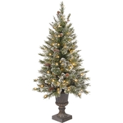 National Tree Company Glittery Bristle Entrance Tree with Clear Lights