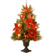 National Tree Company 3 ft. Decorative Collection Entrance Tree with Clear Lights