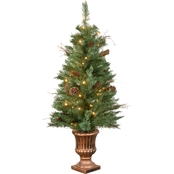 National Tree Company 4 ft. Glistening Pine Entrance Tree with Clear Lights