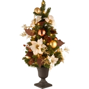National Tree Company 3 ft. Inspired by Nature Entrance Tree with Clear Lights