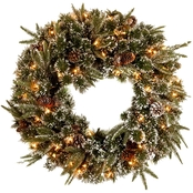 National Tree Co. 24 in. Liberty Pine Wreath with Clear Lights
