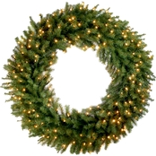 National Tree Co. 48 in. Norwood Fir Wreath with Clear Lights
