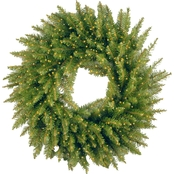 National Tree Co. 24 in. Kingswood Fir Wreath with Battery Operated Infinity Lights