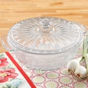 Pioneer Woman Adeline 2.5 qt. Casserole with Lid Clear Glass
