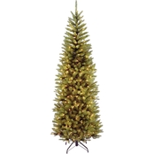 National Tree Company 6.5 ft. Kingswood Fir Pencil Tree with Multicolor Lights