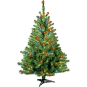 National Tree Company 4 ft. Kincaid Spruce Tree with Multicolor Lights