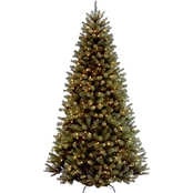 National Tree Company 9 ft. North Valley Spruce Tree with Clear Lights