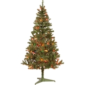 National Tree Company 6 ft. Canadian Grande Fir Tree with Multicolor Lights