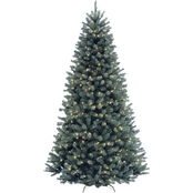 National Tree Company 7.5 ft. North Valley Blue Spruce Tree with Clear Lights