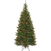 National Tree Company 7 ft. Aspen Spruce Tree with Multicolor Lights