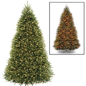 National Tree Company 9 ft. Dunhill Fir Tree with Dual Color LED Lights