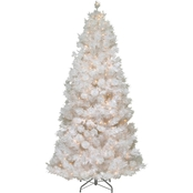National Tree Company 7.5 ft. Wispy Willow Grande White Slim Tree with Clear Lights
