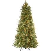 National Tree Company 7.5 ft. Tiffany Fir Slim Tree with Clear Lights