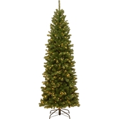 National Tree Co. 7.5 ft. North Valley Spruce Pencil Slim Tree with Clear Lights