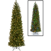 National Tree Co. 7.5 ft. Downswept Douglas Pencil Slim Fir with Dual Color LEDs