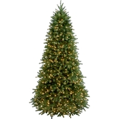 National Tree Company 7.5 ft. Jersey Fraser Fir Slim Tree with Clear Lights