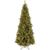 National Tree Company 7.5 ft. Colonial Slim Tree with Clear Lights