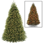 National Tree Company 10 ft. Dunhill Fir Tree with Dual Color LED Lights