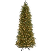 National Tree Company 7.5 ft. Jersey Fraser Fir Pencil Slim Tree with Clear Lights