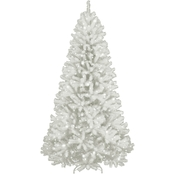 National Tree Company 7 ft. North Valley White Spruce Tree with Clear Lights