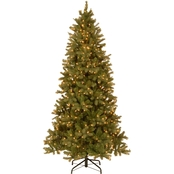 National Tree Company 7.5 ft. Downswept Douglas Slim Fir Tree with Clear Lights