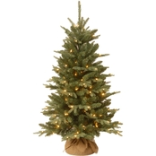 National Tree Company 4 ft. Everyday Collection Burlap Tree with Clear Lights
