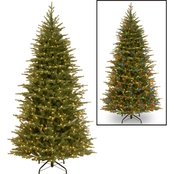National Tree Company 7.5 ft. Nordic Spruce Slim Tree with Dual Color LED Lights