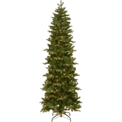 National Tree Company 7.5 ft. Prescott Pencil Slim Tree with Clear Lights