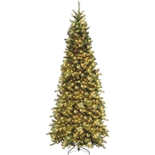 National Tree Company 9 ft. Tiffany Fir Slim Tree with Clear Lights