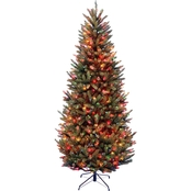 National Tree Company 7.5 ft. Natural Fraser Slim Fir Tree with Multicolor Lights