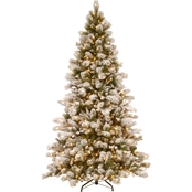 National Tree Company 7.5 ft. Snowy Westwood Pine Tree with Clear Lights