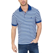 Nautica Classic Fit Striped Performance Deck Polo Shirt