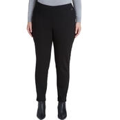Calvin Klein Plus Size Velvet Piped Leggings