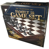 Cardinal Games Traditions Family 10 Game Set