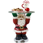 Design Toscano Santa Claus Sculptural Glass Topped Holiday Table