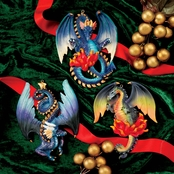Design Toscano Three Dragons of Talbooth Sculptural Holiday Ornaments 3 pc. Set