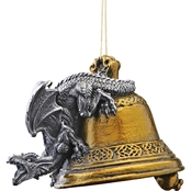 Design Toscano Humdinger the Bell Ringer Gothic Dragon 2011 Holiday Ornament