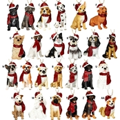 Design Toscano Holiday Dog Ornaments, Complete Set of 25