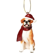 Design Toscano Boxer Holiday Dog Ornament Sculpture