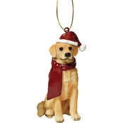 Design Toscano Golden Retriever Holiday Dog Ornament Sculpture
