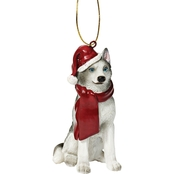 Design Toscano Siberian Husky Holiday Dog Ornament Sculpture