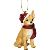 Design Toscano Chihuahua Holiday Dog Ornament Sculpture